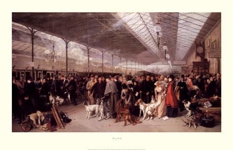 Perth Station, Going South 1895 Art Print