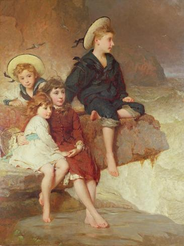 The Children of Sir Hussey Vivian at the Seaside Giclee Print