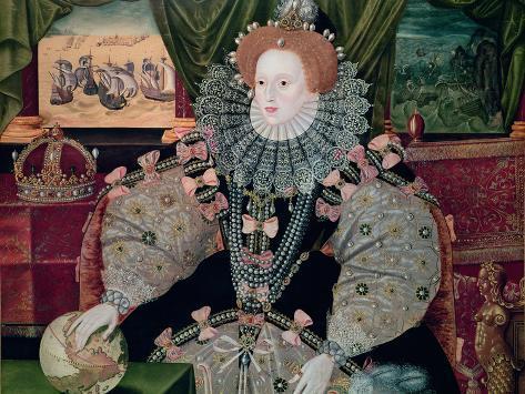 Elizabeth I, Armada Portrait, circa 1588 Giclee Print