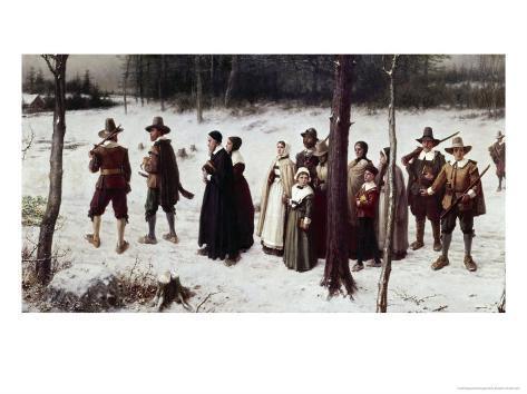 Pilgrims Going to Church Giclee Print