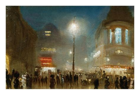 The Strand, London, at Theater Time Giclee Print
