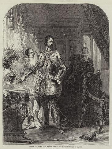 Scene from the Life of the Duc De Biron Giclee Print