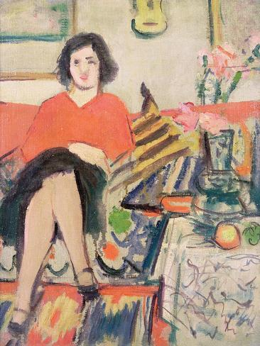 Interior with a Figure Giclee Print