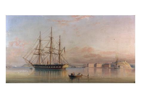 Rowing Ashore, Cork, 1858 Giclee Print