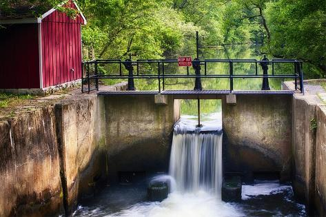 Lock on the D & R Canal, New Jersey Photographic Print
