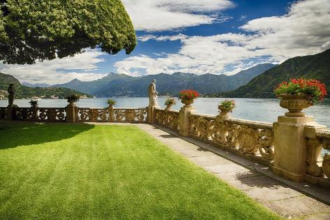 Villa Garden View On Lake Como Italy Photographic Print