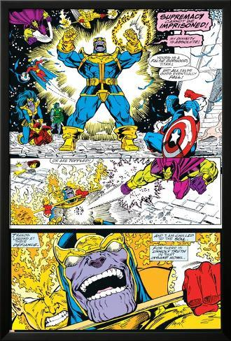 Infinity Gauntlet No4 Group Thanos Captain America And Drax The