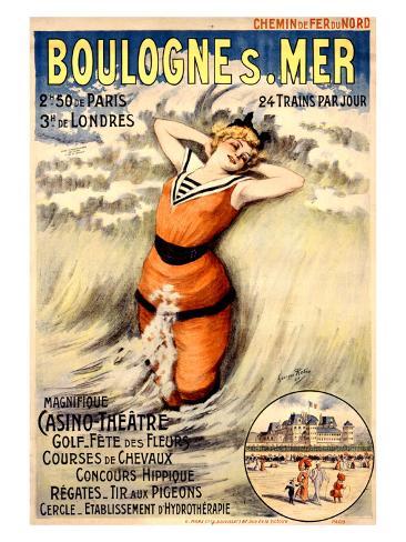 Boulogne s. Mer Giclee Print