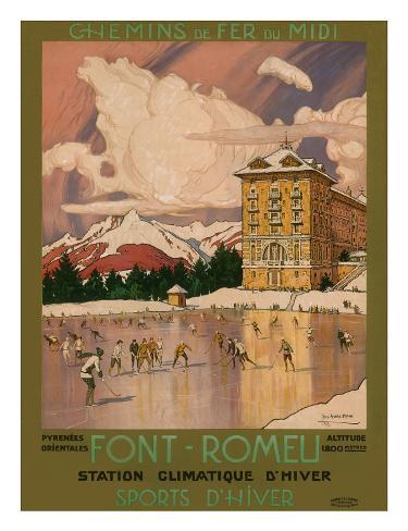 Chemin de Fer du Midi, Font-Romeu, c.1920's Framed Giclee Print