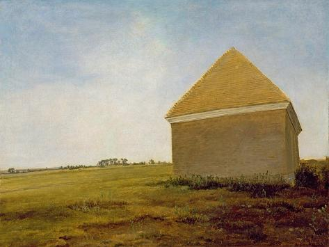 Newmarket Heath, with a Rubbing-Down House, c.1765 (Post-Restoration) Giclee Print