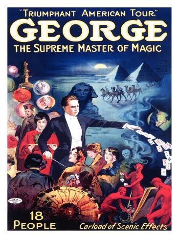 George the Supreme Master of Magic Giclee Print