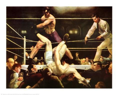 Dempsey and Firpo, 1924 Art Print
