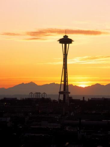 Seattle Space Needle, WA Photographic Print