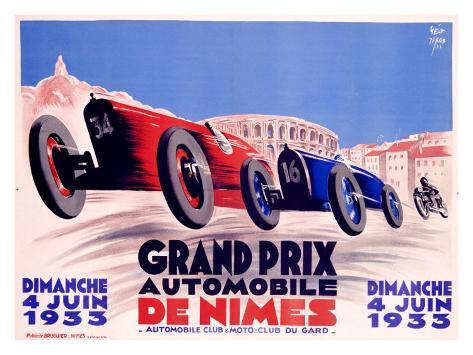 Grand Prix de Nimes Giclee Print