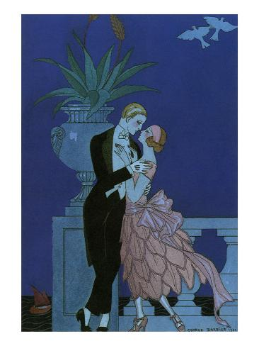 By the Railing, 1921 Giclee Print