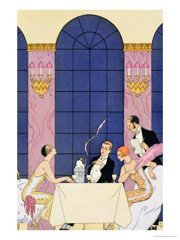 The Gourmands, 1920-30 Giclee Print