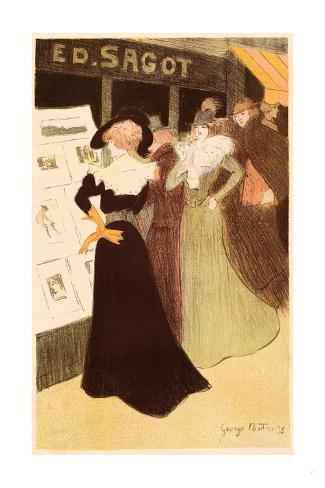 The Sagot Address, French, 1874 1907, 1898, Colored Lithograph Giclee Print