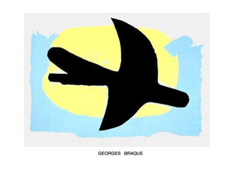 oiseau bleu et jaune posters by georges braque. Black Bedroom Furniture Sets. Home Design Ideas