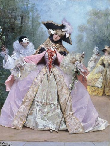 The Masked Ball (18th century costumes) Giclee Print