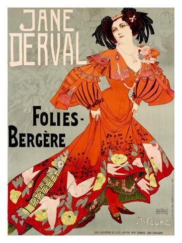 Jane Derval, Folies Bergere Giclee Print