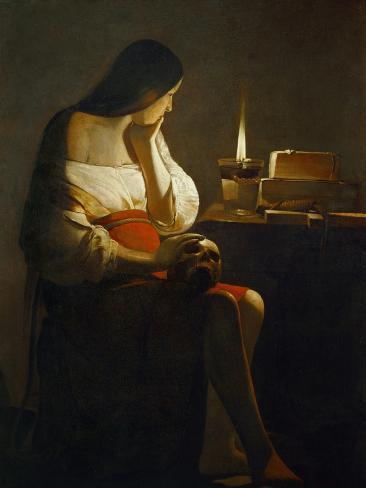 The Magdalene with a Night Light Giclee Print