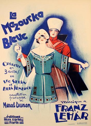 La Mazourka Bleue (c.1930) Collectable Print