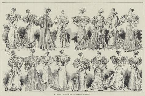 The Royal Wedding at Coburg, the Bridal Trousseau Giclee Print
