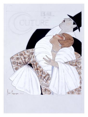 Bal de la Couture Maquette Giclee Print