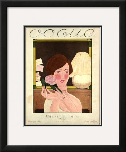 Vogue Cover - December 1924 Framed Giclee Print