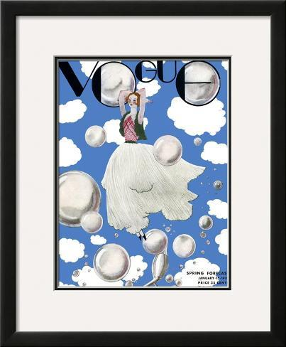 Vogue Cover - January 1932 Framed Giclee Print