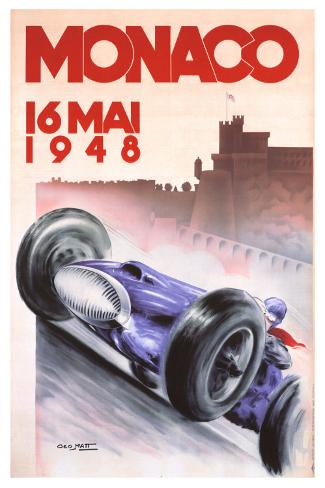 Monaco Grand Prix, 1948 Giclee Print