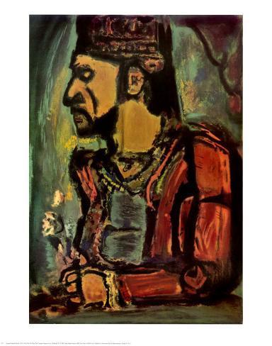 Heads of Two Clowns Lámina