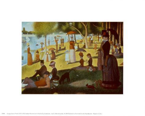 A Sunday on La Grande Jatte 1884, 1884-86 Impressão artística