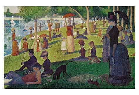 A Sunday on La Grande Jatte 1884, 1884-86 Art Print