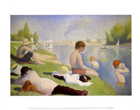 Bathers at Asnieres Art Print