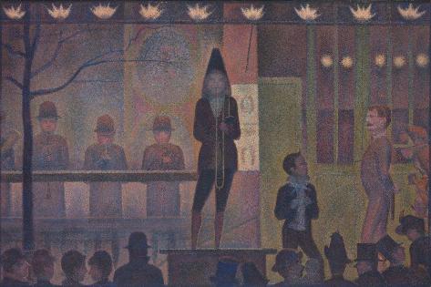 Circus Sideshow (Parade de cirque), 1887-88 Lámina giclée