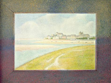 View of Le Crotoy, from Upstream, 1889 Stampa giclée