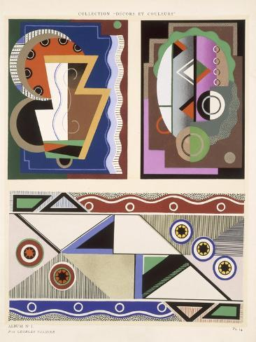 Abstract Designs, from 'Decorations and Colours', Published 1930 (Colour Litho) Giclee Print