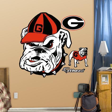 Georgia Bulldogs Gdog Logo Wall Decal