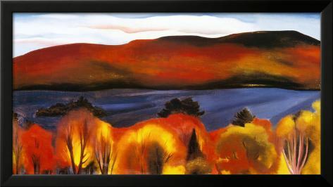 Lake George, Autumn, 1927 Framed Art Print