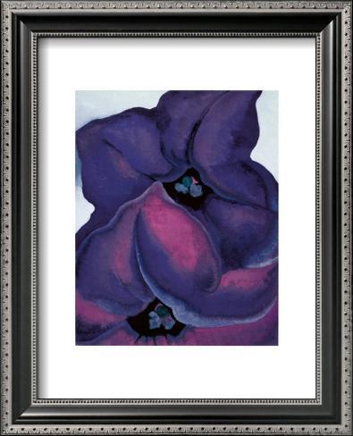Purple Petunias, 1925 Framed Art Print