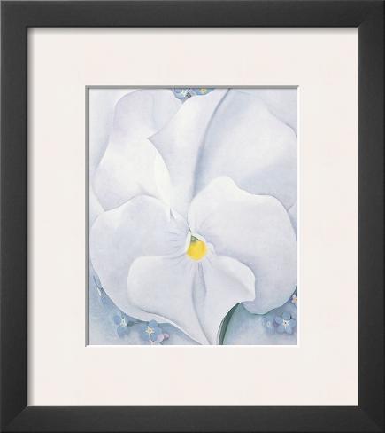 White Pansy, c.1927 Framed Art Print