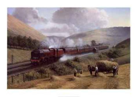 London, Midland and Scottish Railway (LMS), classe Royal Scot, Tebay Troughs, 1935 Stampa artistica