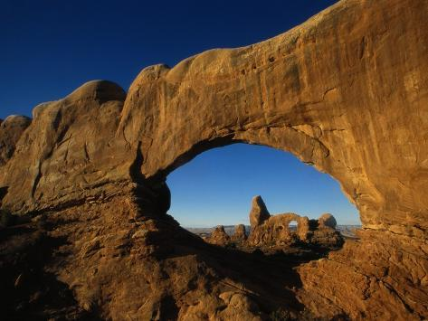 North Window and Turret Arch Photographic Print