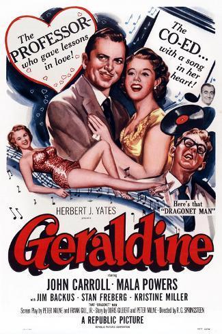Geraldine, 1953 Art Print
