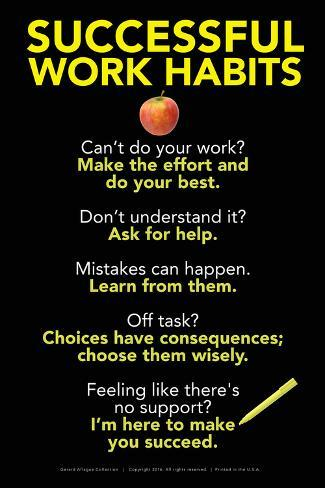 Successful Work Habits Poster