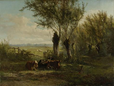 Meadow Near Oosterbeek Art Print