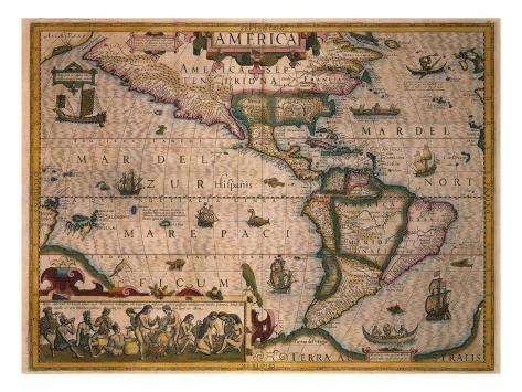 Map of America Giclee Print