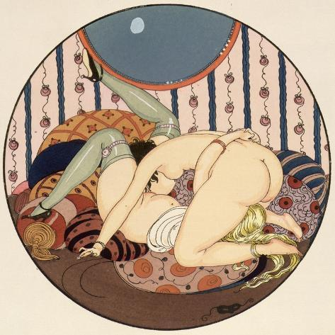 The Connoisseurs, Illustration from the Pleasures of Eros, 1917 Giclee Print