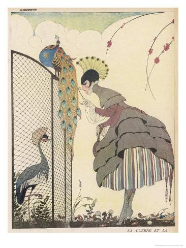 Satire on the Fashion for Voluminous Short Skirts and Use of Antique Styles Giclee Print